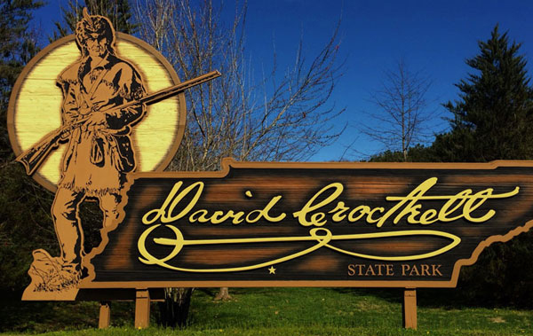 David Crockett State Park Sign